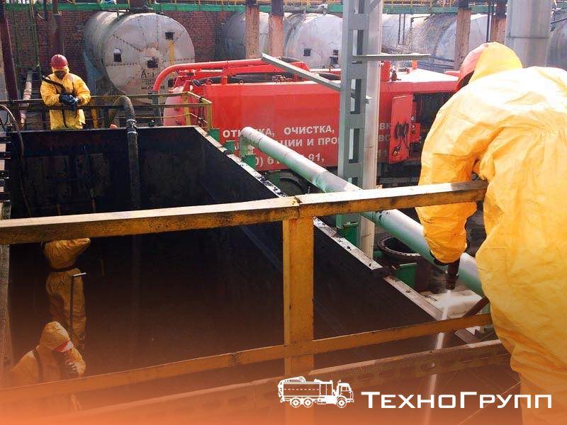 Гидромеханическая очистка емкостного оборудования