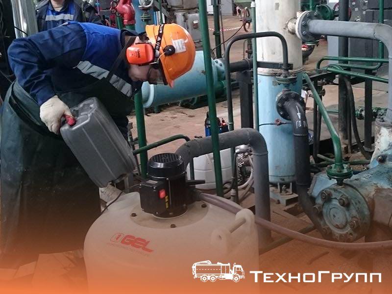 Гидрохимическая промывка охлаждающих контуров компрессорного оборудования